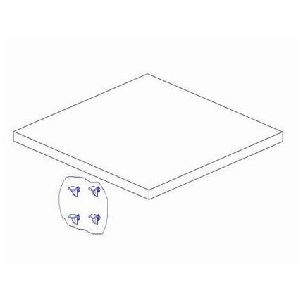 Dodatkowa półka do szafy 1-drzwiowej, z kolekcji Marsylia PINIO MHP1-14
