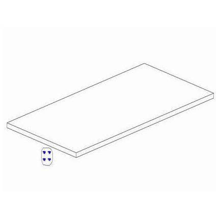 Dodatkowa półka do szafy 2-drzwiowej, z kolekcji Marsylia PINIO MHP1-15