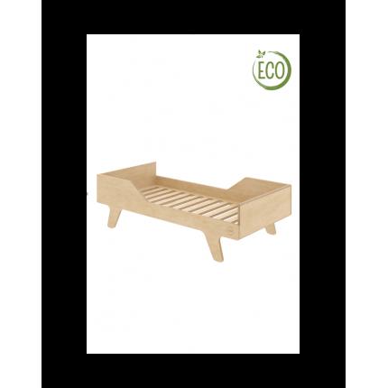 Łóżko Eco Dream, 140x70 cm, lewe, z ekologicznej sklejki NUKI MHB0-49