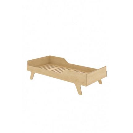 Łóżko Eco Dream, 160x80 cm, prawe, z ekologicznej sklejki NUKI MHB0-53