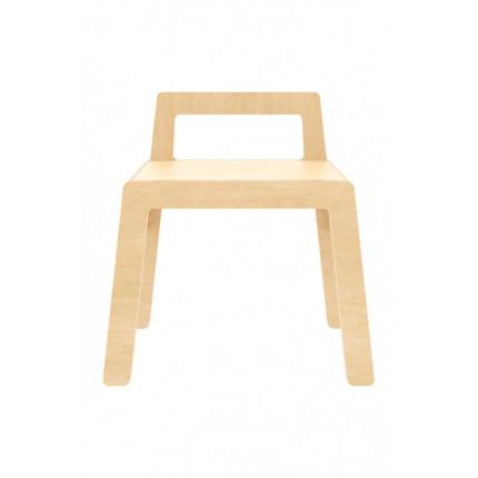 Krzesło tapicerowane szare z poziomymi przeszyciami MHKO-108