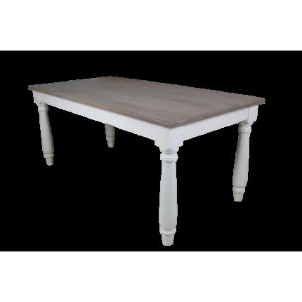 Stół do jadalni z białego cedru i mahoniu MHS1-04