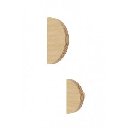 Drewniany wieszak półkole NUKI MHW0-25