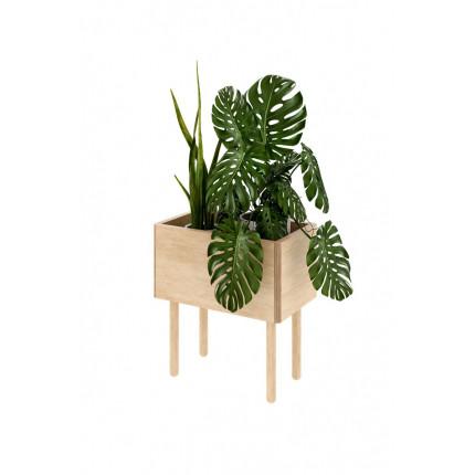 Wysoki, drewniany kwietnik Jungle, w rozmiarze S, z kolekcji Nuki, MHD0-64