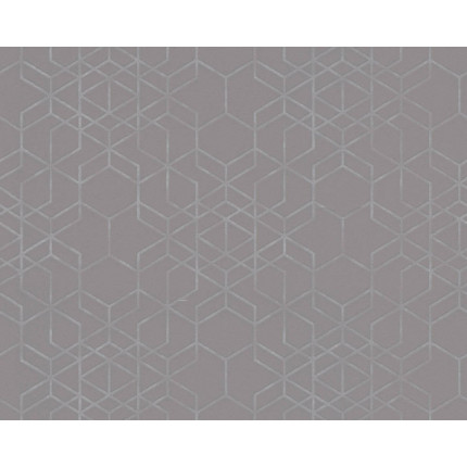 Tapeta szara w heksagony MHT0-104