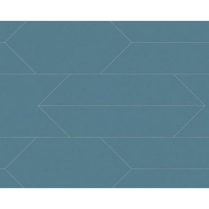 Tapeta niebieska z geometrycznym wzorem MHT0-105