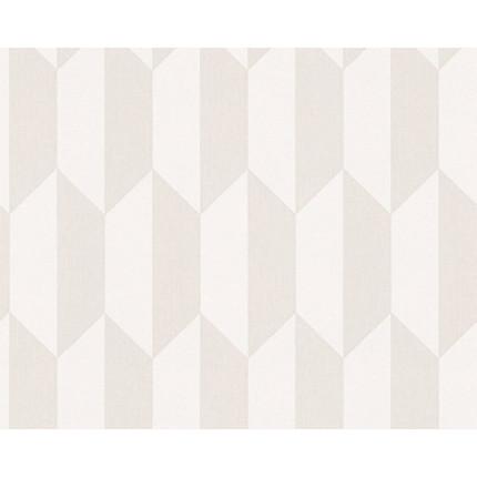 Tapeta w geometryczny beżowy wzór MHT0-106