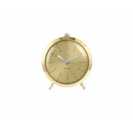 Złoty zegar z budzikiem Karlsson MHD0-08-28