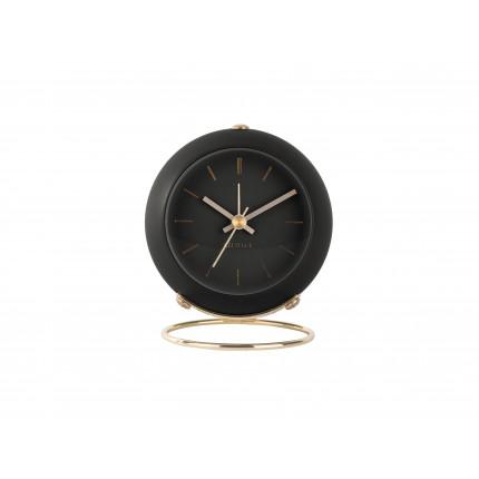 Czarny, mały zegar z budzikiem, na stojaku, Karlsson, MHD0-08-31