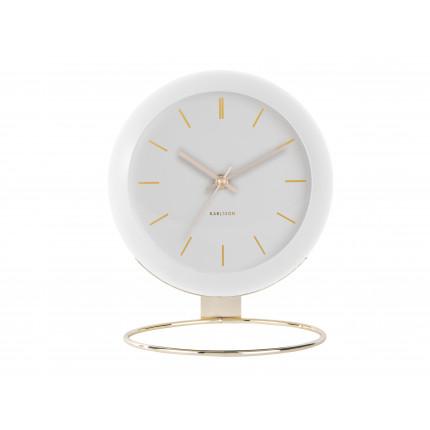 Biały, duży zegar na stojaku, Karlsson, MHD0-08-30