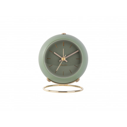 Zielony, mały zegar z budzikiem, na stojaku, Karlsson, MHD0-08-33