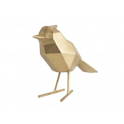 Figurka dekoracyjna duży, złoty ptak MHD0-03-35