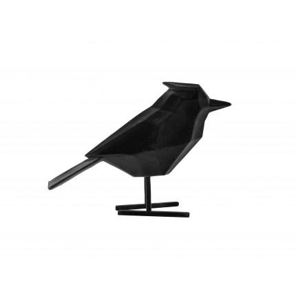 Figurka duży, czarny, aksamitny ptak MHD0-03-33