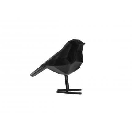 Figurka mały, aksamitny, czarny ptak MHD0-03-34