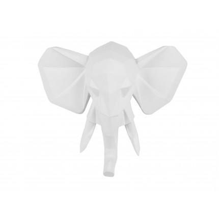 Ozdoba ścienna biały słoń MHD0-09-46