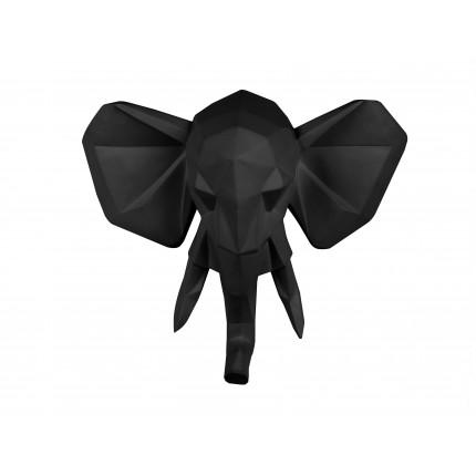 Ozdoba ścienna czarny słoń MHD0-09-47
