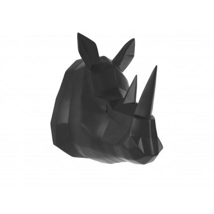 Ozdoba ścienna czarny nosorożec MHD0-09-48
