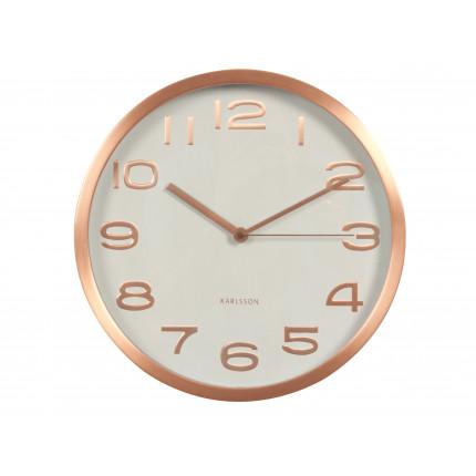Miedziany zegar ścienny Karlsson MHD0-08-38