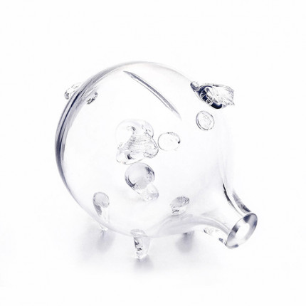 Szklana świnka skarbonka MHD0-09-06