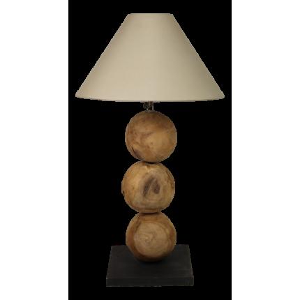 Lampa stołowa drewniana kule MHL0-03