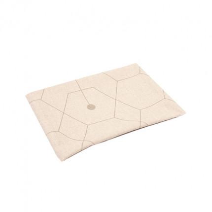 Bieżnik z motywem geometrycznym brązowy MHA0-03-08