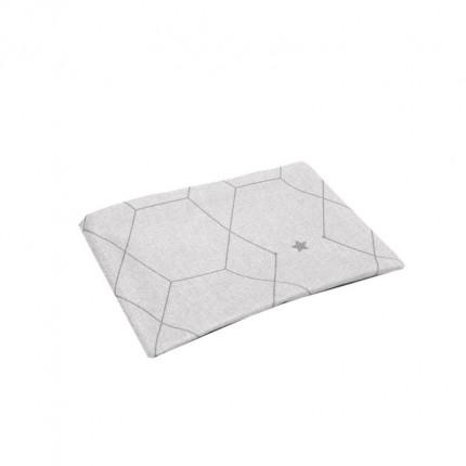 Bieżnik z motywem geometrycznym szary MHA0-03-11