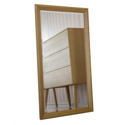 Duże lustro w drewnianej ramie MHF 108