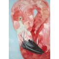 Ręcznie malowany obraz na płótnie - FLAMING MHD0-10-07