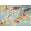 Ręcznie malowany obraz na płótnie - RYBY MHD0-10-08