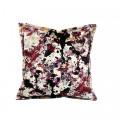 Aksamitna poduszka różnokolorowa w mazy MHA0-01-53