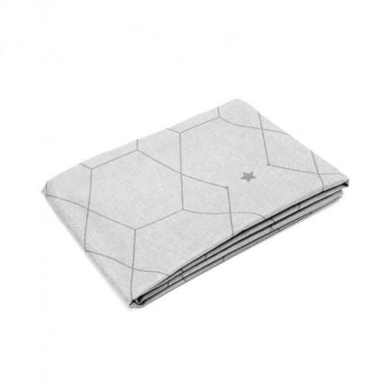 Obrus z motywem geometrycznym szary 220x140 cm MHA0-03-09