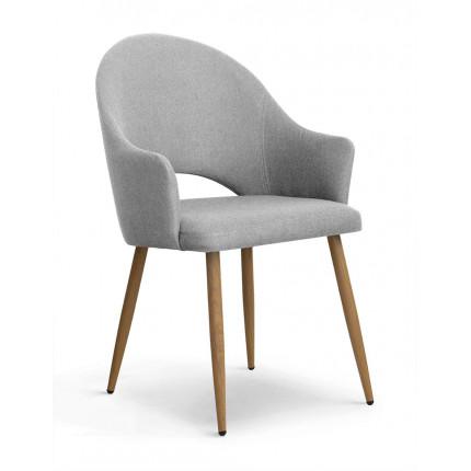 Krzesło tapicerowane tkaniną z dziurą w oparciu MHK0-100