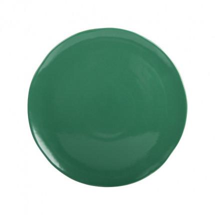 Duży zielony ręcznie malowany talerz MHZ0-01-03