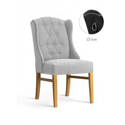 Krzesło tapicerowane pikowane z ozdobną kołatką MHK0-48
