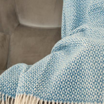 Pled GRAPHIC niebiesko-biały MHA0-04-15