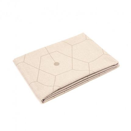 Obrus z motywem geometrycznym brązowy 220x140 cm MHA0-03-06