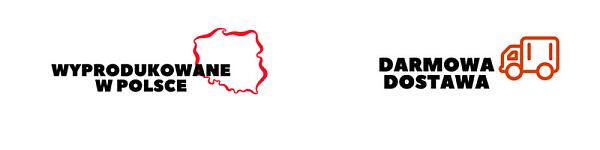 Darmowa dostawa, wyprodukowane w Polsce
