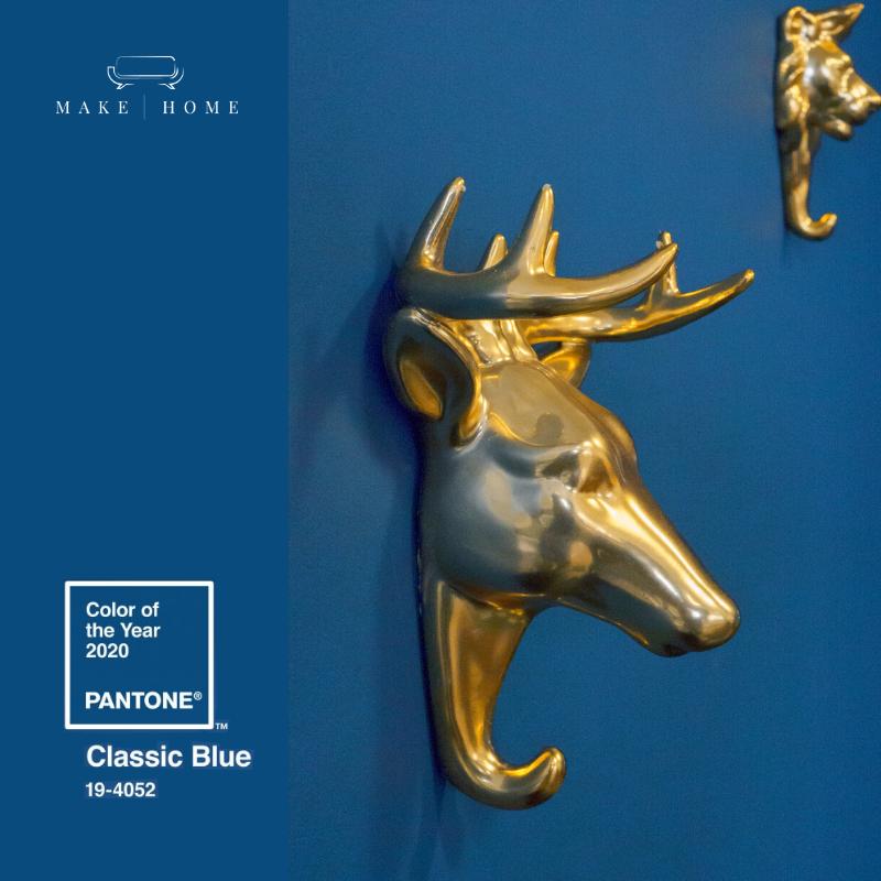 classic blue ze złotem w make home