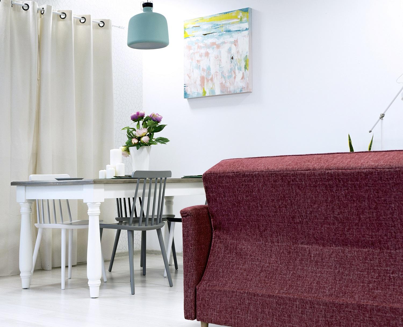 klimatyczny salon z jadalnią