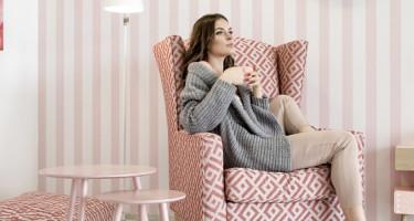 Wnętrze w stylu etno pink