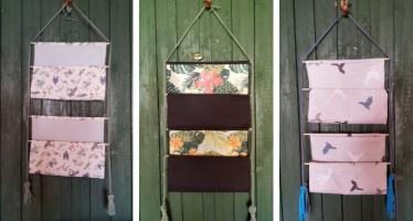 Jak zrobić wiszącą półkę z tkaniny?